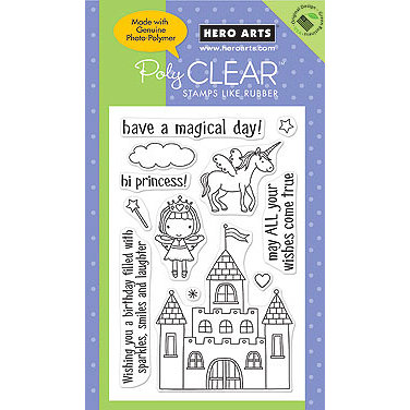 Hero Arts - Poly Clear - Clear Acrylic Stamps - Magical Castle