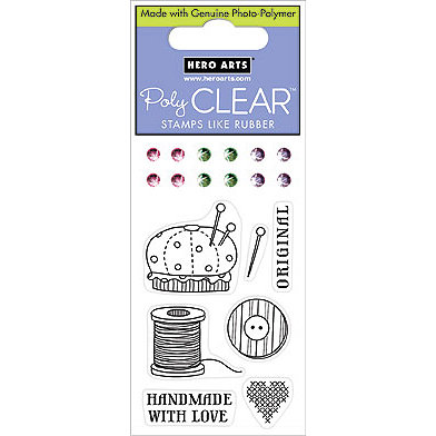 Hero Arts - Sparkle Clear - Clear Acrylic Stamps - Sew Original, CLEARANCE