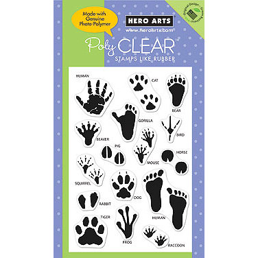 Hero Arts - Poly Clear - Clear Acrylic Stamps - Animal Prints