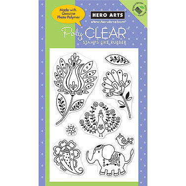 Hero Arts - Poly Clear - Clear Acrylic Stamps - Exotic Decor