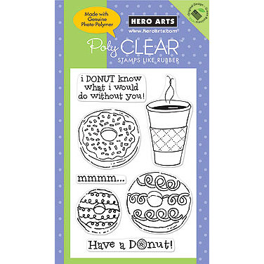 Hero Arts - Poly Clear - Clear Acrylic Stamps - Have a Donut!