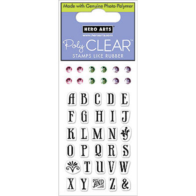 Hero Arts - Sparkle Clear - Clear Acrylic Stamps - Uppercase Letters