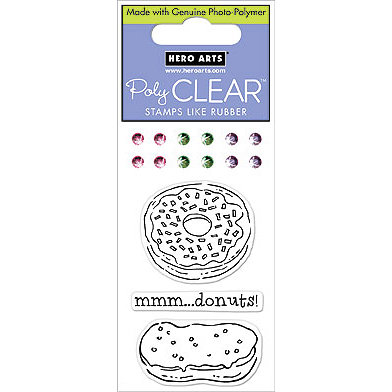 Hero Arts - Sparkle Clear - Clear Acrylic Stamps - Donut