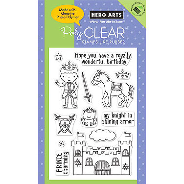 Hero Arts - Poly Clear - Clear Acrylic Stamps - Prince Charming
