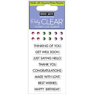 Hero Arts - Sparkle Clear - Clear Acrylic Stamps - Classic Messages