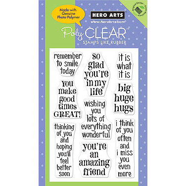 Hero Arts - Poly Clear - Clear Acrylic Stamps - Huge Hugs, CLEARANCE
