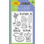 Hero Arts - Poly Clear - Clear Acrylic Stamps - Kiss the Cook, CLEARANCE