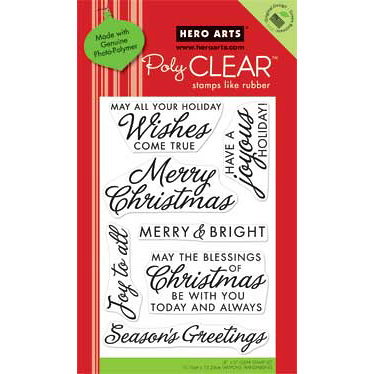 Hero Arts - Poly Clear - Christmas - Clear Acrylic Stamps - Joy To All