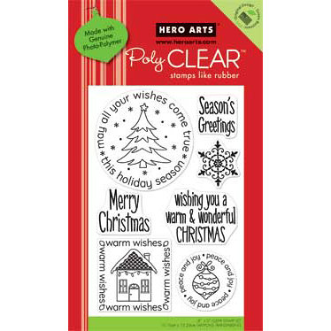Hero Arts - Poly Clear - Christmas - Clear Acrylic Stamps - Wishes Come True