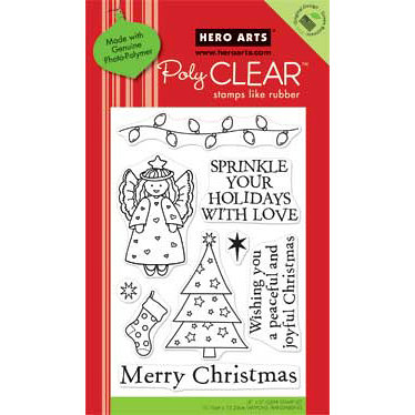 Hero Arts - Poly Clear - Christmas - Clear Acrylic Stamps - Sprinkle Your Holidays
