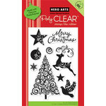 Hero Arts - Poly Clear - Christmas - Clear Acrylic Stamps - Swirl Christmas