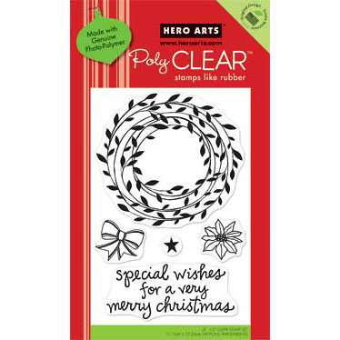 Hero Arts - Poly Clear - Christmas - Clear Acrylic Stamps - Special Wishes