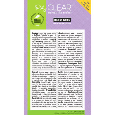 Hero Arts - Poly Clear - Clear Acrylic Stamps - Dictionary Greeting