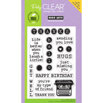 Hero Arts - Poly Clear - Clear Acrylic Stamps - Type