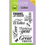 Hero Arts - Poly Clear - Clear Acrylic Stamps - Made with Love