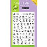 Hero Arts - Poly Clear - Clear Acrylic Stamps - Typewriter Letters