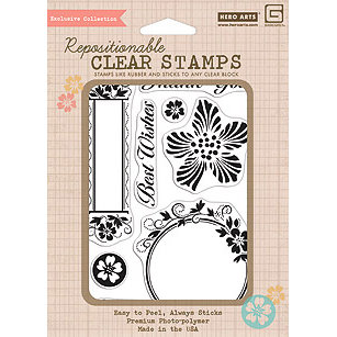 Hero Arts - BasicGrey - Hello Luscious Collection - Poly Clear - Clear Acrylic Stamps - Frames