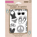 Hero Arts - BasicGrey - Lauderdale Collection - Poly Clear - Clear Acrylic Stamps - Sunshine