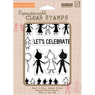 Hero Arts - BasicGrey - Life of the Party Collection - Poly Clear - Clear Acrylic Stamps - Cutouts