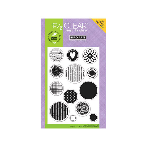 Hero Arts - Poly Clear - Clear Acrylic Stamps - Many Dots
