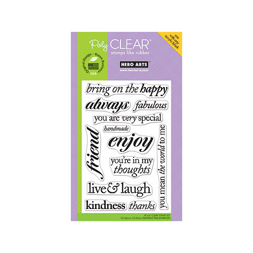 Hero Arts - Poly Clear - Clear Acrylic Stamps - Live and Laugh
