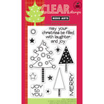 Hero Arts - Poly Clear - Christmas - Clear Acrylic Stamps - Laughter and Joy