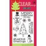 Hero Arts - Poly Clear - Christmas - Clear Acrylic Stamps - Snowman Christmas