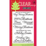 Hero Arts - Poly Clear - Christmas - Clear Acrylic Stamps - Very Merry Christmas