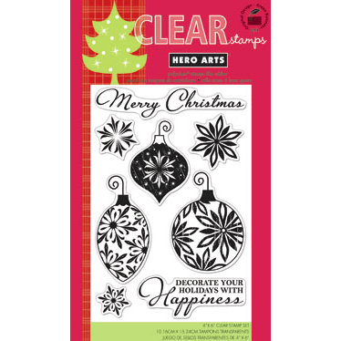 Hero Arts - Poly Clear - Christmas - Clear Acrylic Stamps - Decorate Your Holidays