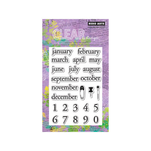Hero Arts - Poly Clear - Clear Acrylic Stamps - Make a Date