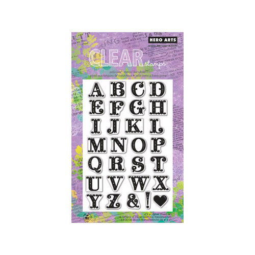 Hero Arts - Poly Clear - Clear Acrylic Stamps - Fancy Letters