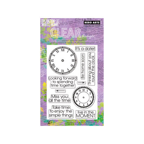 Hero Arts - Operation Write Home - Poly Clear - Clear Acrylic Stamps - All the Time