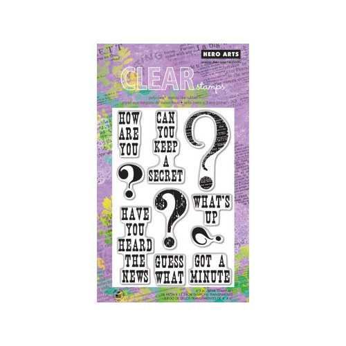 Hero Arts - Poly Clear - Clear Acrylic Stamps - Guess What