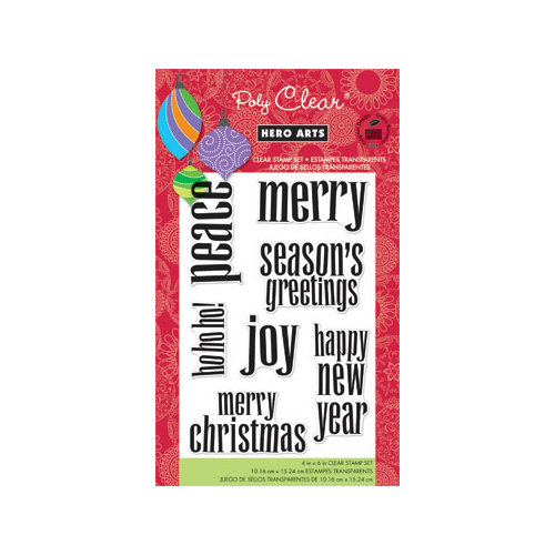 Hero Arts - Poly Clear - Christmas - Clear Acrylic Stamps - Lower Case Greetings