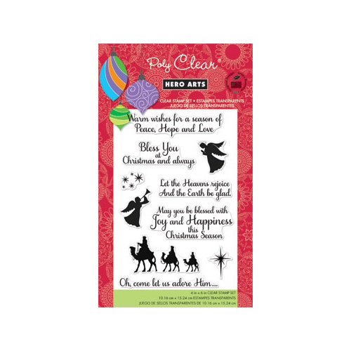 Hero Arts - Poly Clear - Christmas - Clear Acrylic Stamps - Heavens Rejoice