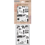 Hero Arts - BasicGrey - Soleil Collection - Poly Clear - Clear Acrylic Stamps - Paradise