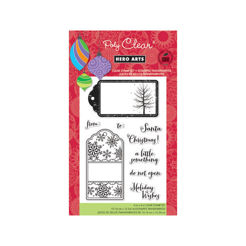 Hero Arts - Poly Clear - Christmas - Clear Acrylic Stamps - A Little Something