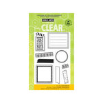 Hero Arts - Poly Clear - Clear Acrylic Stamps - Tape Your Message