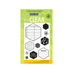 Hero Arts - Poly Clear - Clear Acrylic Stamps - Clear Hexagons
