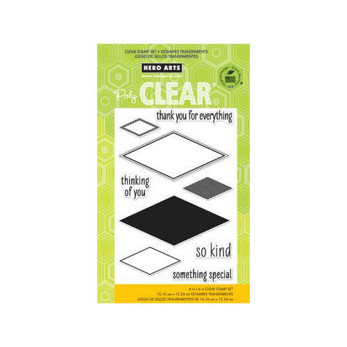 Hero Arts - Poly Clear - Clear Acrylic Stamps - So Kind
