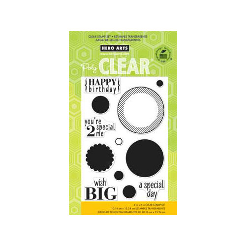 Hero Arts - Poly Clear - Clear Acrylic Stamps - Circles