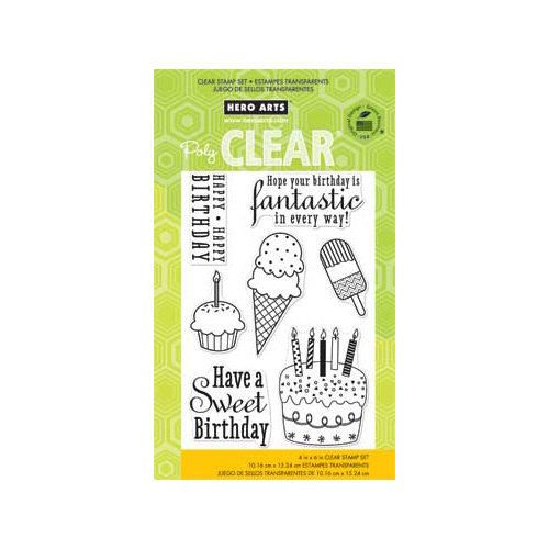 Hero Arts - Poly Clear - Clear Acrylic Stamps - Fantastic Birthday