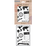 Hero Arts - BasicGrey - Carte Postale Collection - Poly Clear - Clear Acrylic Stamps - My Favorite