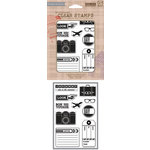 Hero Arts - BasicGrey - Carte Postale Collection - Poly Clear - Clear Acrylic Stamps - Journey