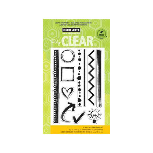 Hero Arts - Poly Clear - Clear Acrylic Stamps - Notebook Essentials