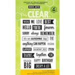 Hero Arts - Poly Clear - Clear Acrylic Stamps - Anything Can Happen