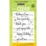 Hero Arts - Poly Clear - Clear Acrylic Stamps - Messages With Flourish