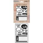 Hero Arts - BasicGrey - Highline Collection - Clear Acrylic Stamps - Life is Good