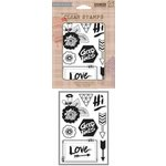 Hero Arts - BasicGrey - Highline Collection - Clear Acrylic Stamps - Good Times