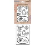 Hero Arts - Basic Grey - Spice Market Collection - Clear Acrylic Stamps - Lovely